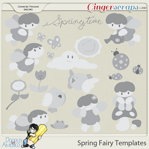 Doodles By Americo: Spring Fairy Templates