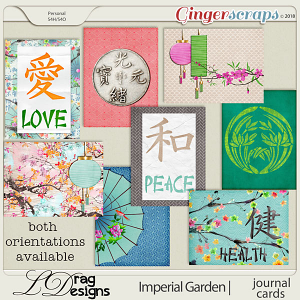 Imperial Garden: Journal Cards by LDragDesigns