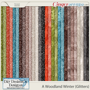 A Woodland Winter {Glitter Papers} by Day Dreams 'n Designs