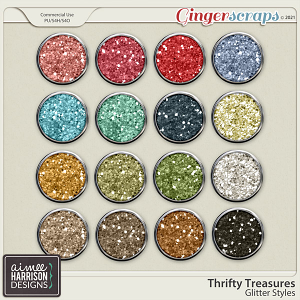 Thrifty Treasures Glitters by Aimee Harrison
