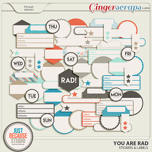 You Are Rad Stickers & Labels by JB Studio