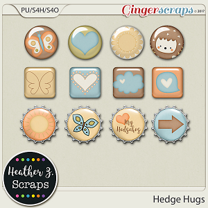 Hedge Hugs FLAIRS by Heather Z Scraps