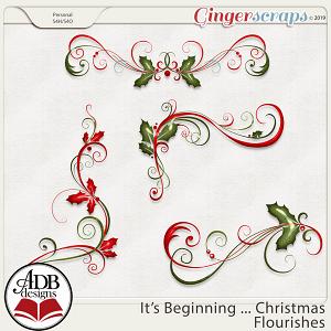 It's Beginning ... Christmas Flourishes by ADB Designs