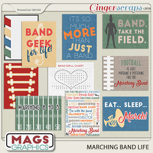 Marching Band Life JOURNAL CARDS by MagsGraphics