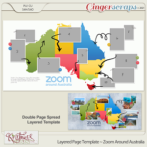 Layered Page Templates ~ Zoom Around Australia