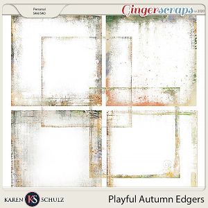 Playful Autumn Edgers by Karen Schulzand Linda Cumberland Designs