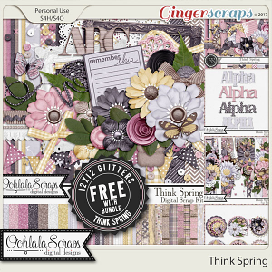 Think Spring Digital Scrapbook Bundle
