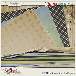 HiBEARnation Shabby Papers
