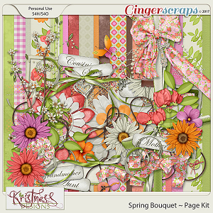 Spring Bouquet Page Kit