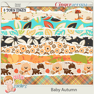 Baby Autumn-Torn EdgesBorder