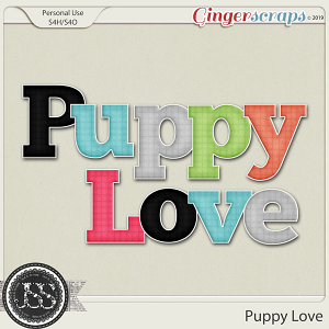 Puppy Love Plaid Alphabets