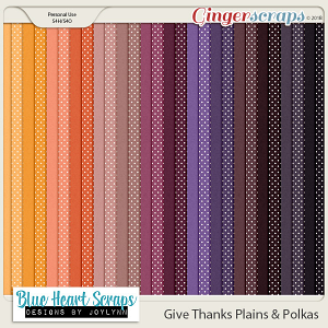 Give Thanks Plains & Polkas Paper Pack