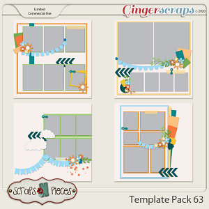 Template Pack 63 by Scraps N Pieces