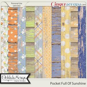 Pocket Full Of Sunshine Worn Wood Papers