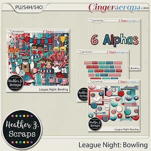 League Night: Bowling BUNDLE by Heather Z Scraps