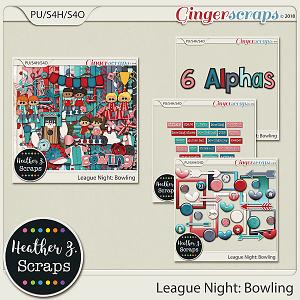 League Night: Bowling BUNDLE by Heather Z Scraps