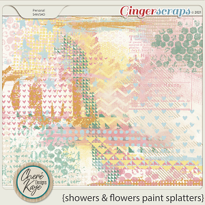 Showers and Flowers Paint Splatters by Chere Kaye Designs