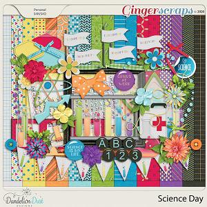 Science Day Digital Scrapbook Kit By Dandelion Dust Designs
