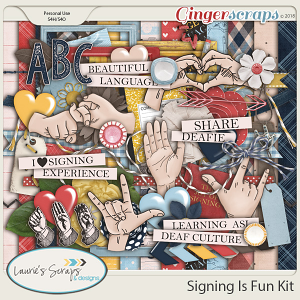 Signing Is Fun Page Kit