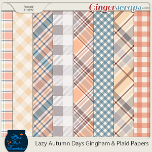 Lazy Autumn Days Plaids and Gingham Papers by Miss Fish