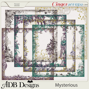 Mysterious Page Borders by ADB Designs