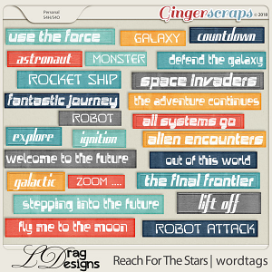 Reach For The Stars: Wordtags by LDrag Designs