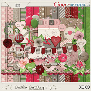 XOXO Digital Scrapbook Kit By Dandelion Dust Designs