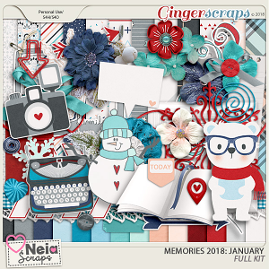 Memories 2018 - January - Full Kit - By Neia Scraps