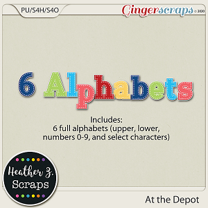 At the Depot ALPHABETS by Heather Z Scraps