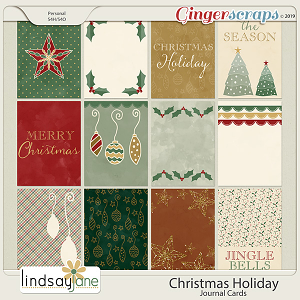 Christmas Holiday Journal Cards by Lindsay Jane