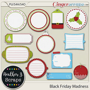 Black Friday Madness TAGS by Heather Z Scraps