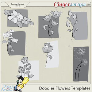 Doodles By Americo: Doodles Flowers Templates