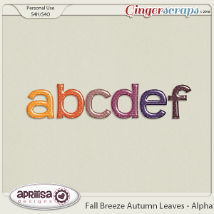 Fall Breeze Autumn Leaves - Alpha by Aprilisa Designs