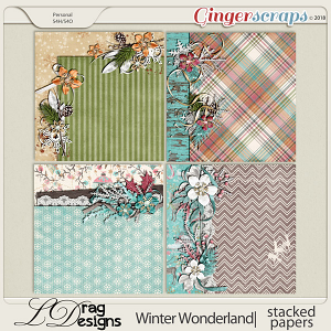 Winter Wonderland: Stacked Papers by LDragDesigns