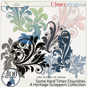 Some Hard Times Flourishes by ADB Designs