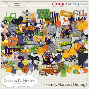 Family Harvest Outing Embellishments by Scraps N Pieces