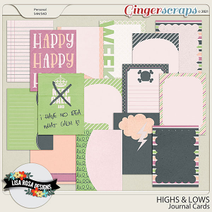 Highs and Lows - Journal Cards by Lisa Rosa Designs