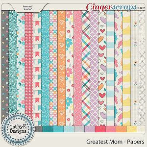Greatest Mom - Papers by CathyK Designs