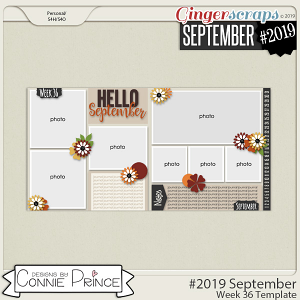 #2019 September - Week 36 Template Pack (CU Ok) by Connie Prince