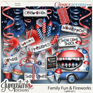 Family Fun & Fireworks {Add-On} by Jumpstart Designs