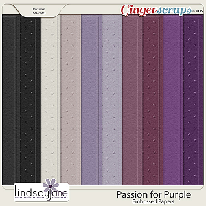 Passion for Purple Embossed Papers by Lindsay Jane