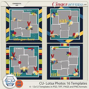 CU- Lotsa Photos 16 Templates by Miss Fish