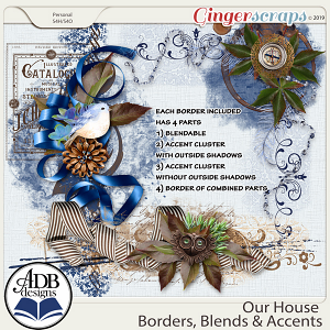 Our House Borders, Blendables & Accents by ADB Designs