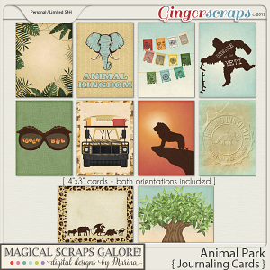 Animal Park (journaling cards)