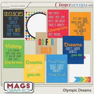 Olympic Dreams JOURNAL CARDS by MagsGraphics