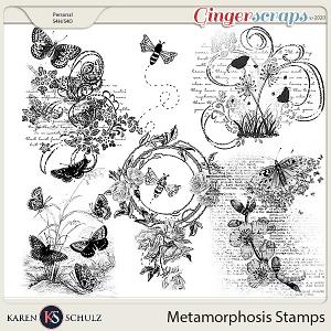 Metamorphosis Stamps by Karen Schulz