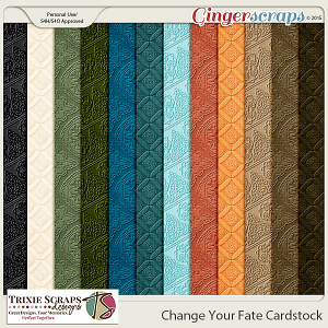 Change Your Fate Cardstock by Trixie Scraps Designs