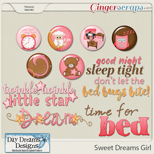 Sweet Dreams Girl {Wordart & Flairs} by Day Dreams 'n Designs