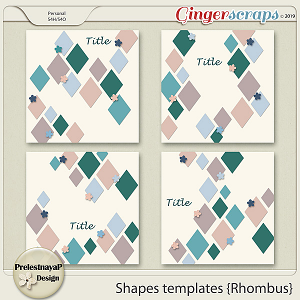 Shapes templates {Rhombus}