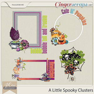 A Little Spooky Cluster Pack by JoCee Designs